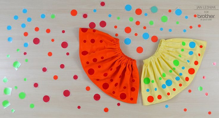 DIY: pleated skirt with polka dots for a little girl http://www.pracowniajanlesniak.pl/2015/04/diy-the-easiest-skirt-in-the-world/