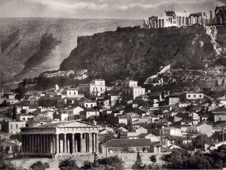 Άποψη της Ακρόπολης από το Θησείο,1920 - View of the Acropolis from Thissio, 1920