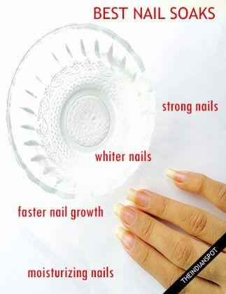DIY NAIL SOAKS FOR BEAUTIFUL AND PERFECT NAILS