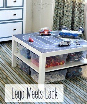 Lego table with storage ... sort of a DIY but looks
