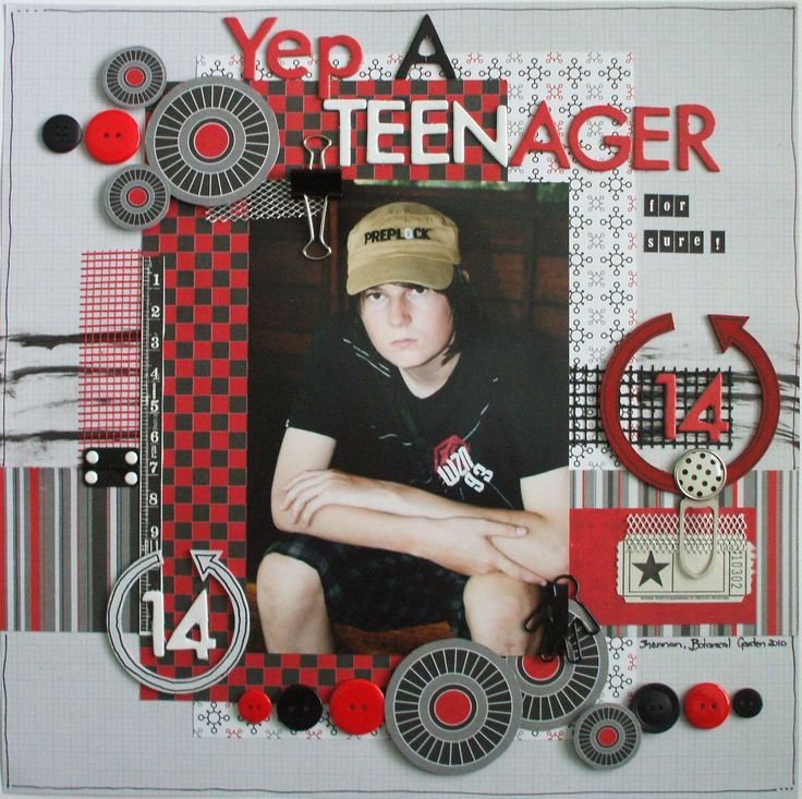 The perfect layout for your perfect teenager from Kylie's Collection. #papercraft #scrapbook #layout