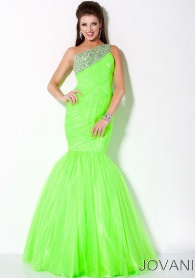 Beautiful Neon Green Dress! #want #neon