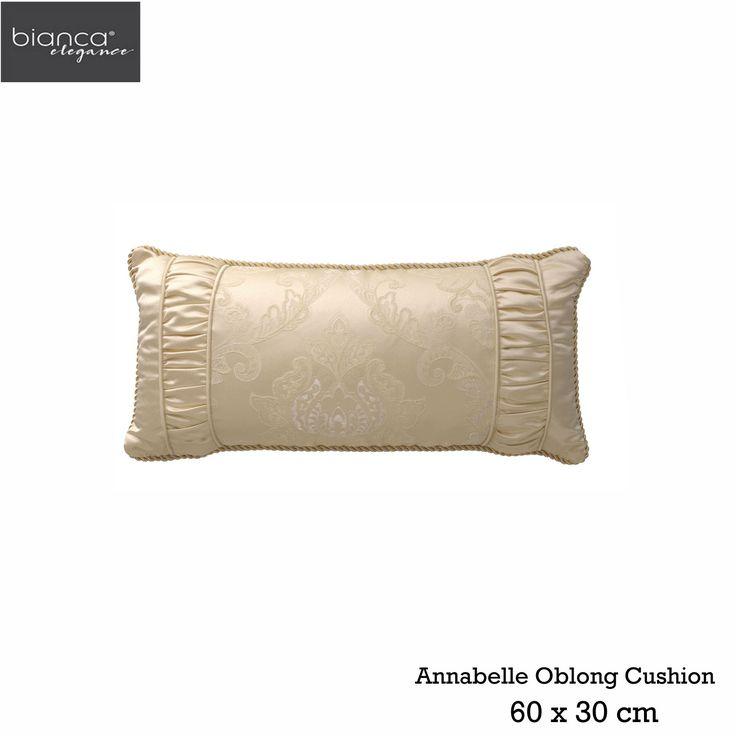 Annabelle Gold Oblong Cushion by Bianca Elegance