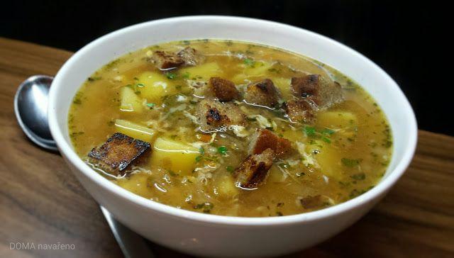 DOMA navařeno: Česneková polévka