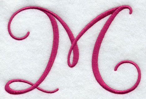 Fancy Flourish Capital Letter M - 4 Inch | Decorating ...