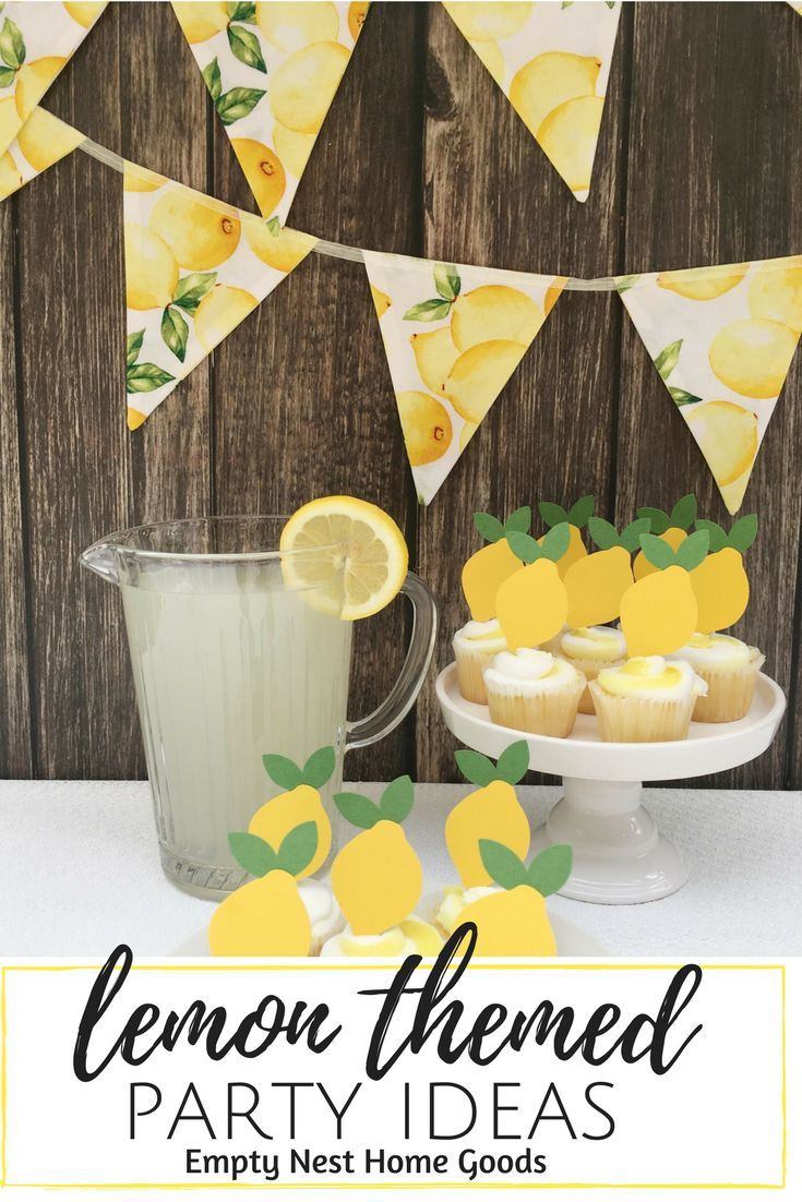 Lemon Cupcake Toppers • Fruit Themed Party • Farmer's ...