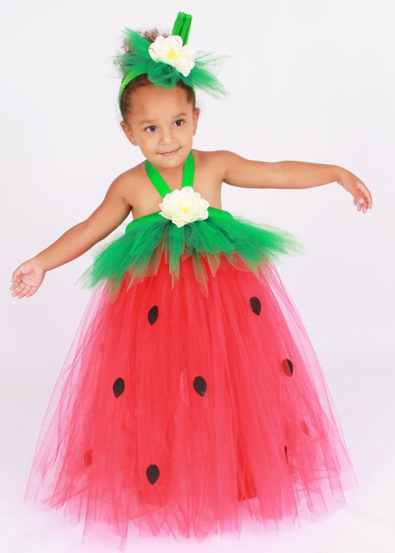 Tutu Dress Strawberry Birthday or by Cutiepatootiedesignz on Etsy