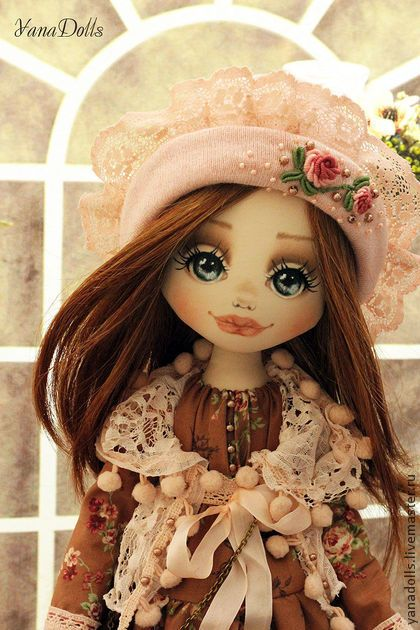 Алеся - коричневый,кукла,кукла ручной работы,кукла текстильная,кукла интерьерная