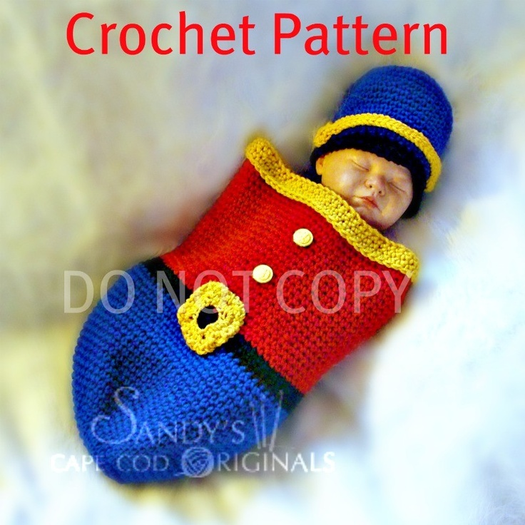 Free Knitting Pattern Toy Soldier : 1000+ images about Crochet Baby Cocoons and Buntings on ...