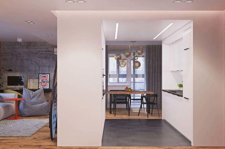 Фотография: Кухня и столовая в стиле Лофт, Квартира, Проект недели, Одинцово, Geometrium, Московская область – фото на InMyRoom.ru