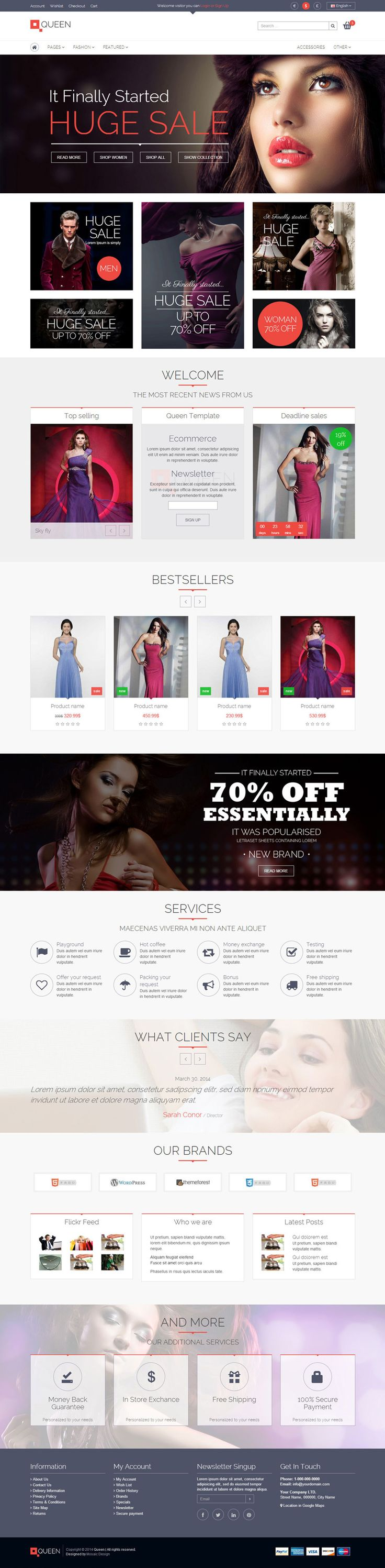 eCommerce, #fashion, clean, simple, block | Inspiration DE