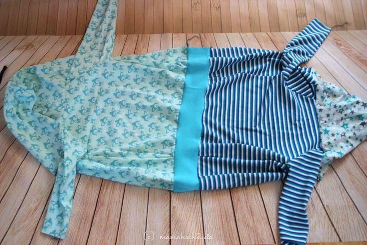 Tutorial: Jersey Kapuzenjacke mit Reißverschluss