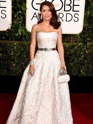 Salma Hayek Pinault - in Alexander McQueen at 2015 Golden Globes