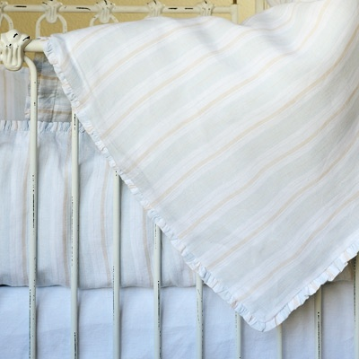 Pom Pom at Home Crib Bedding Mystic Linen Crib Duvet Blue: Mystic Blue, Cribs Beds, Baby Boys, Beds Mystic, At Homes, Blue Linens, Girls Rooms, Linens Cribs, Cribs Duvet