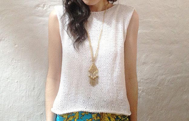 Stockinette Tee   30 Knitting Projects That Are Perfect For Summer