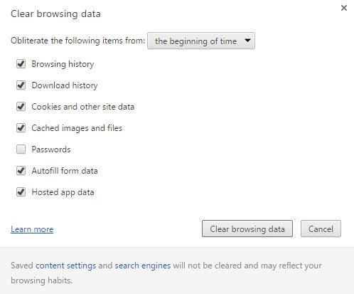 How to clear Web Storage in your browser of choice