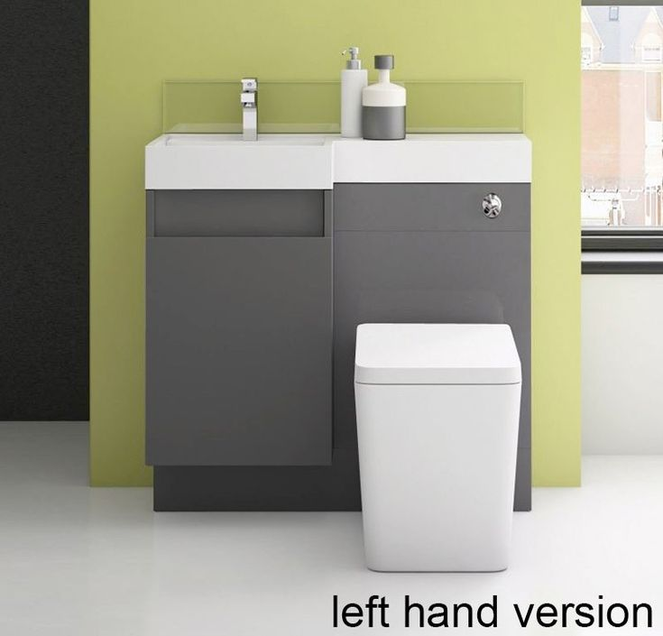 Richmond 900 Double Soft Close Drawer Vanity and WC Unit in White Gloss