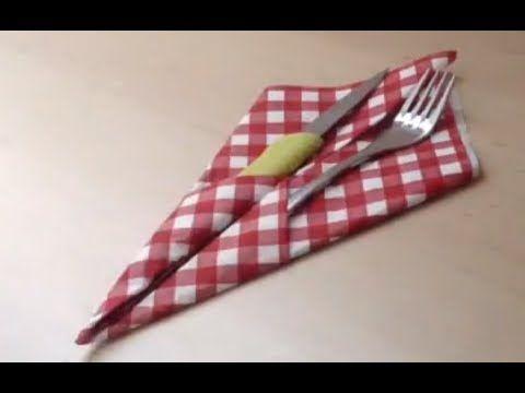 Faire un porte couverts - Pliage avec serviette en papier