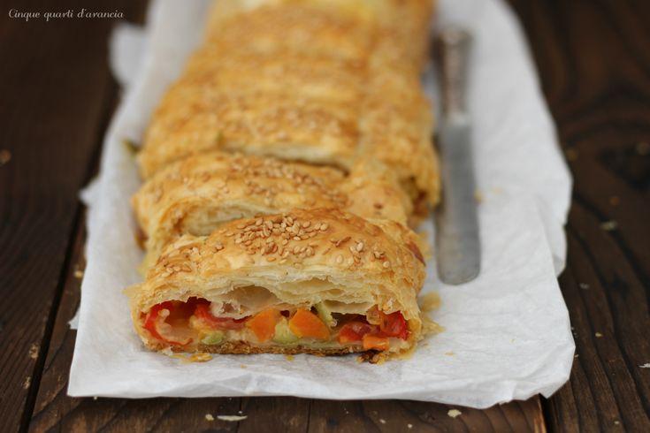 Strudel di verdure e mozzarella