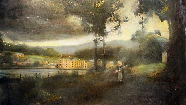 Winner of the Glover Prize, artist Rodney Pople 'Port Arthur'.