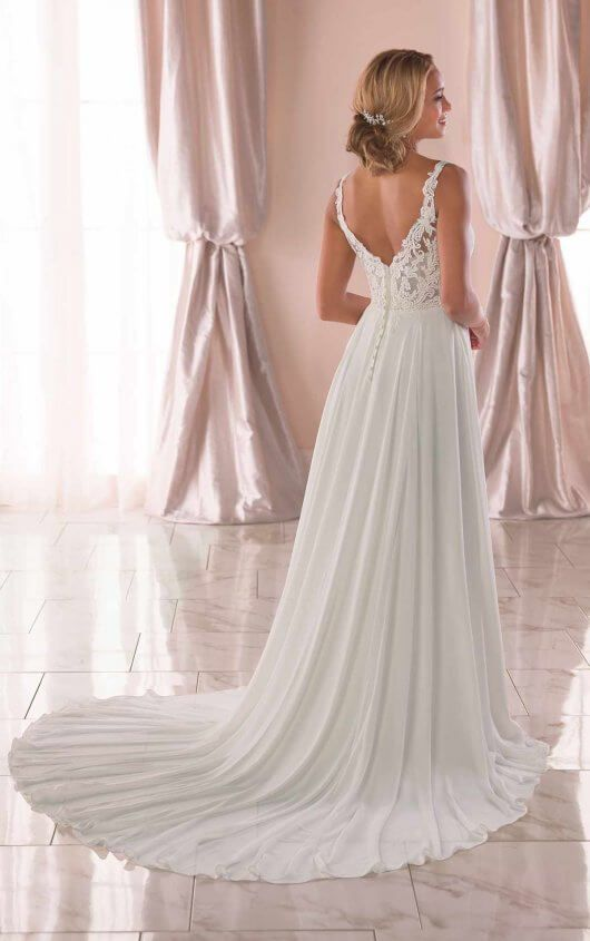 a33572410c7d 6871 Casual Wedding Dress with Slit by Stella York Available at Ella Park  Bridal | Newburgh