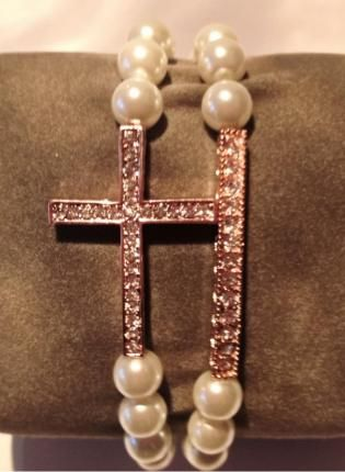 Wrists+of+Faith+Sideways+Cross++Bar+Bracelet,++Jewelry,+sideways+cross++swarovski++cross+bracelet++strech,+Chic