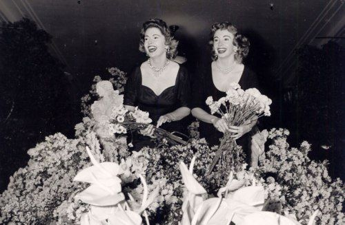 Sisters Audrey Meadows and Jayne Meadows, 1950s