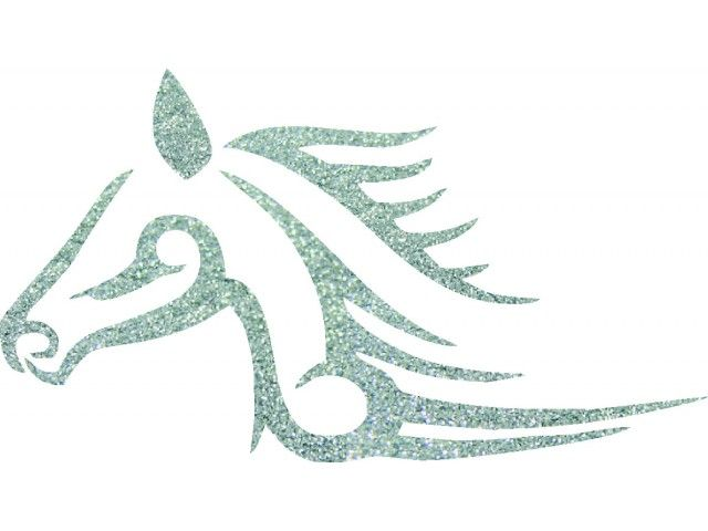 horse 02 glitter tattoo stencil glitterify stencils pinterest tribal horse tattoo. Black Bedroom Furniture Sets. Home Design Ideas