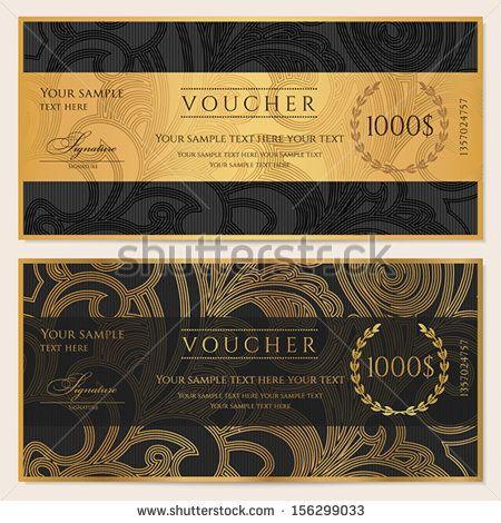 25 best ideas about Gift voucher design – Money Voucher Template