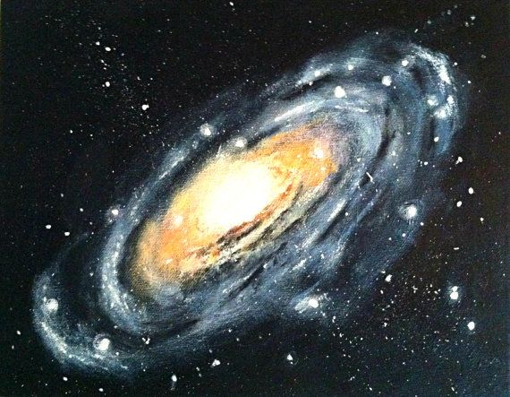 Andromeda galaxy painting the image kid for Outer painting design