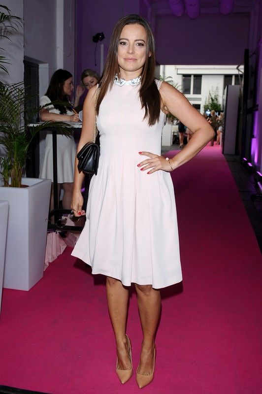 Anna Mucha wearing Mohito pink dress