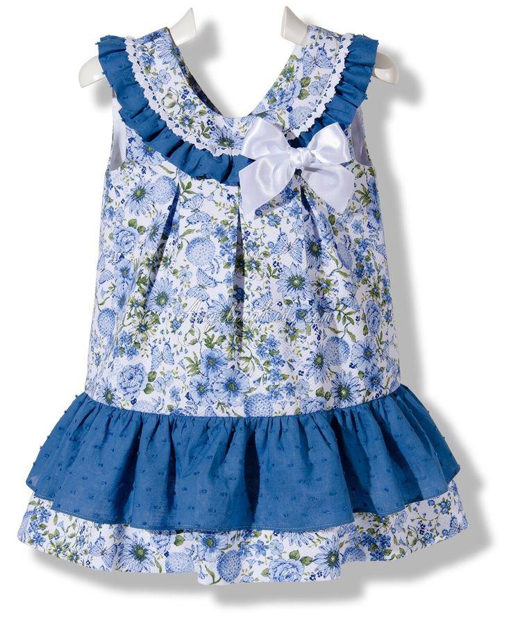 Vestido Flores de abril azulón