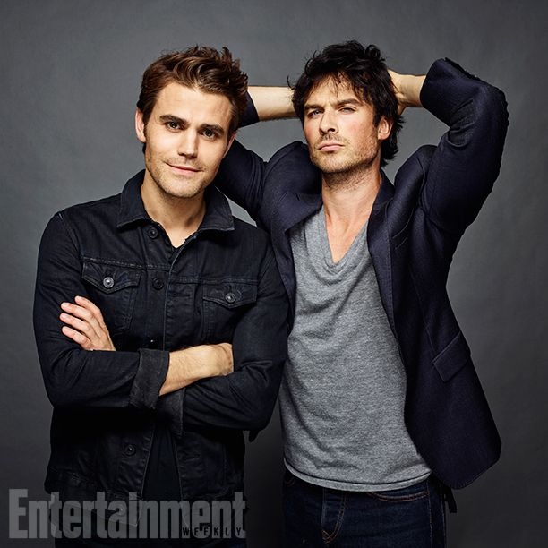 Comic-Con 2016 Star Portraits: Day 3 | Paul Wesley and Ian Somerhalder, 'The Vampire Diaries' | EW.com