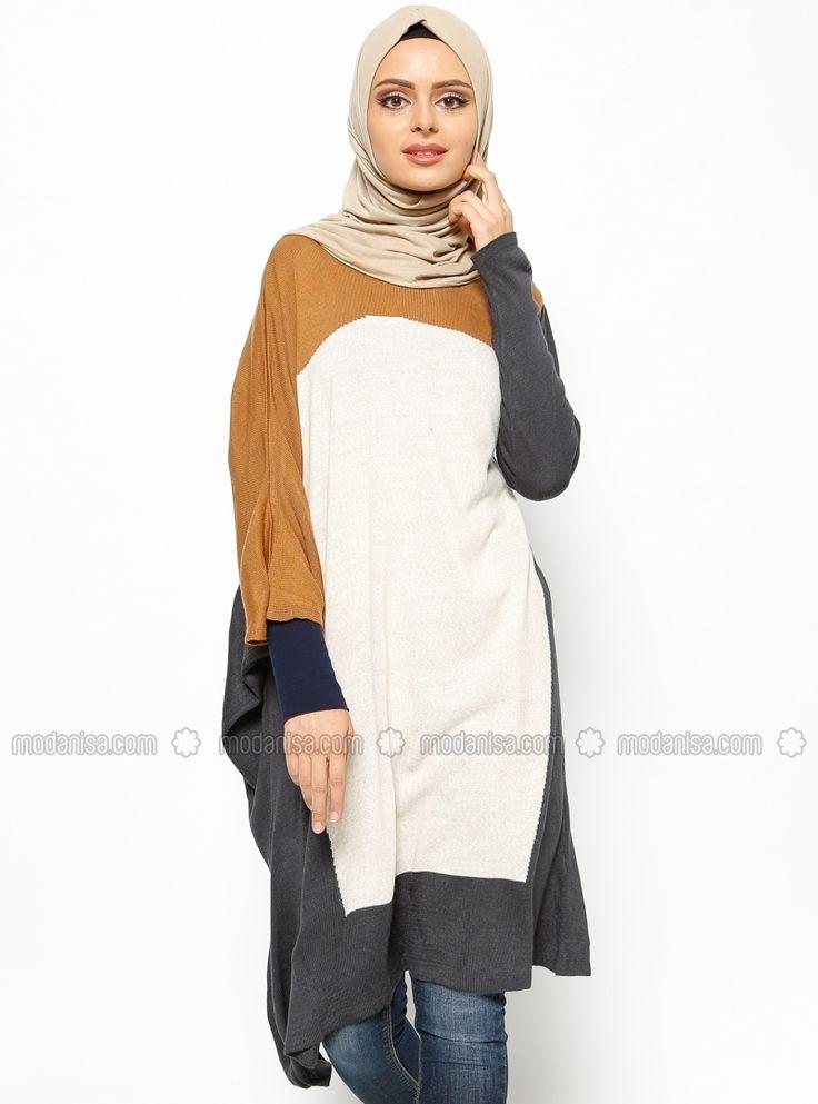Knitted Tunic - Ecru - Seyhan Fashion