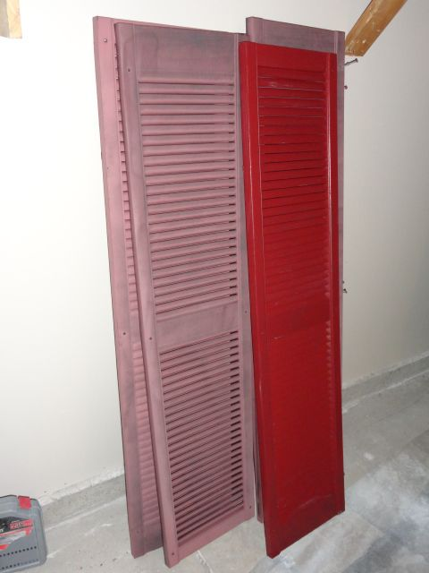 How To Paint Plastic Shutters - Without Removing Them - Video