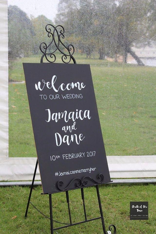 Welcome Wedding Chalkboard Sign