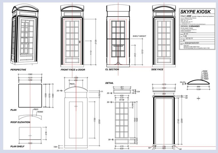 english phone booth plans for building