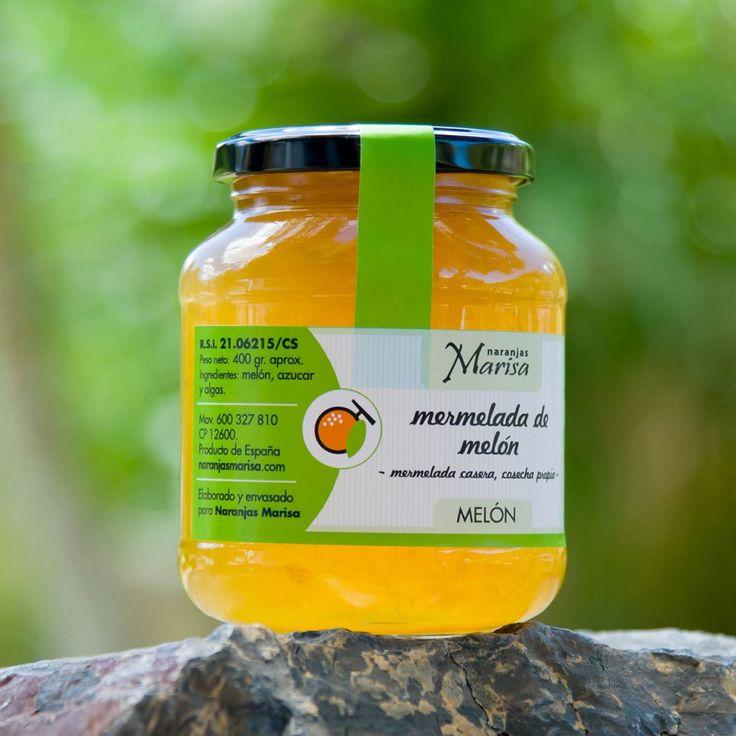 Productos elaborados – Naranjas Marisa. TARRO DE MERMELADA DE MELÓN 400GR. Productos elaborados 100% naturales y de cosecha propia