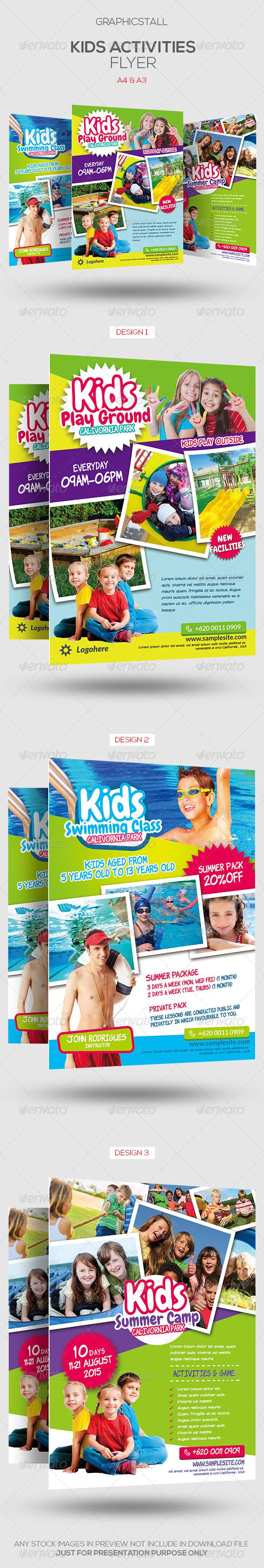 Kids Activities Flyer Template - Corporate Flyers | Download http://graphicriver.net/item/kids-activities-flyer-template/7474925?ref=sinzo