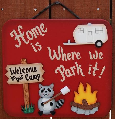 Camping Sign - Decoration;