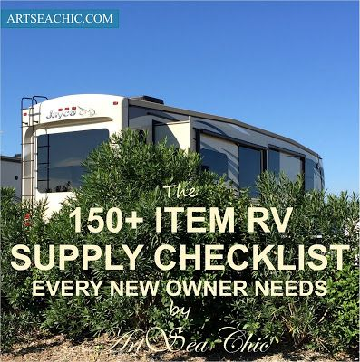 New RV owners can be overwhelmed by the amount of basic supplies needed to  start off a life on the road. We were! I documented 150 items we needed as  we began our tiny house RV living.
