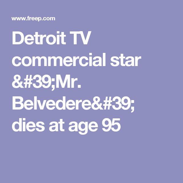 Detroit TV commercial star 'Mr. Belvedere' dies at age 95