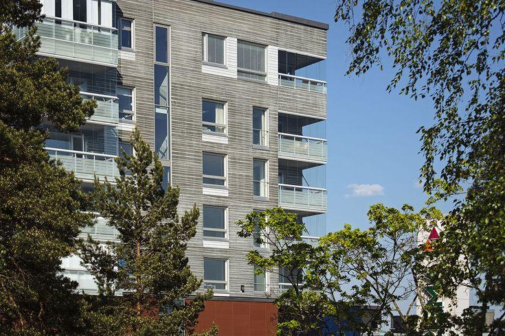 Hyvinkään Sheviot, Hyvinkää, Finland 2014 (housing). Architect: Arkkitehtitoimisto Haroma & Partners, prefabrication: Parma Oy Forssan tehdas.