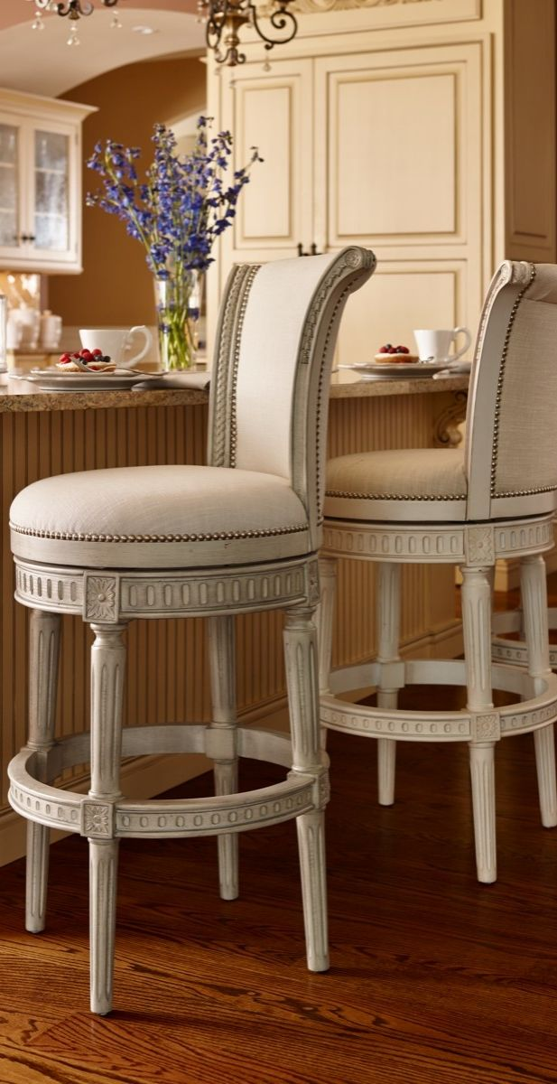 country kitchen bar stools enhanced with details and individually applied 5991