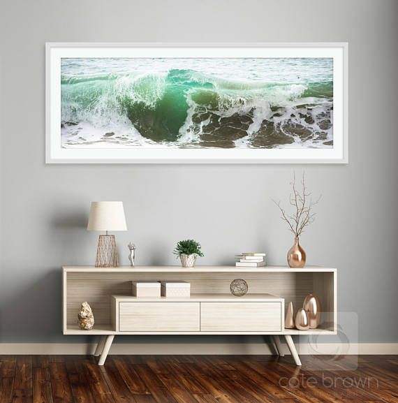 Large Wave Photography // West Cape Wave Panoramic // Print or
