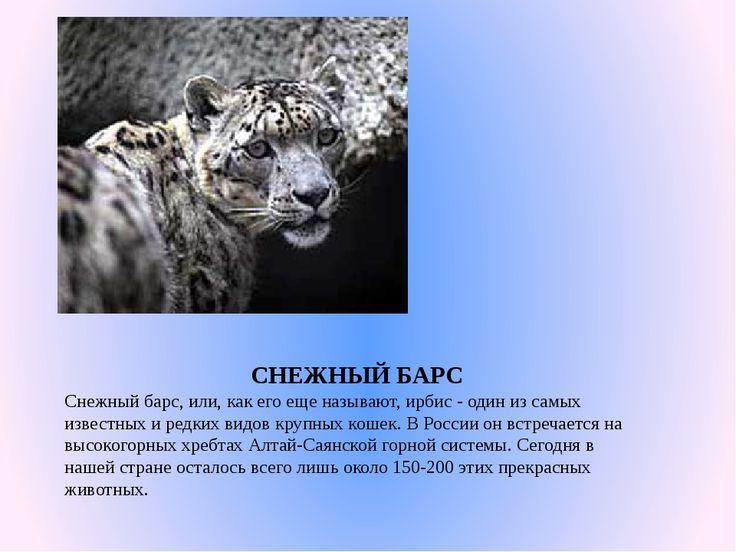 """Проект """"Красная книга России"""""""