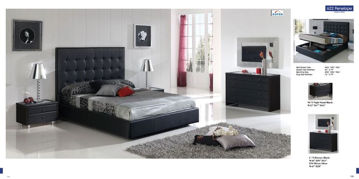 This modern styled bedroom set comes in a wonderful black finish that goes well with any bedroom decor. Description from amazon.com. I searched for this on bing.com/images