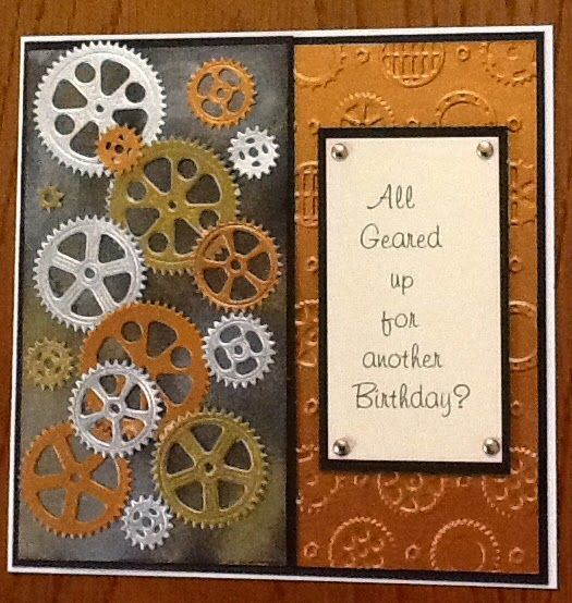 For the Pixies Snippets Challenge  this week I had a rummage through my gold, copper, silver and black snippets box and this is the card I...
