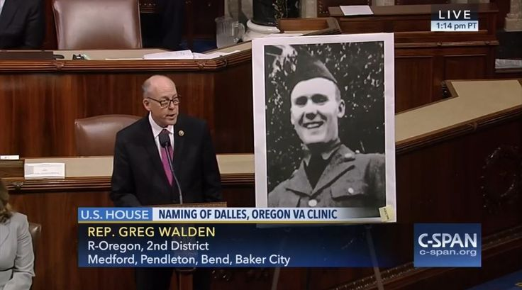 Who: Representative Greg Walden (R-Oregon)  When: May 2016  What: VA clinic  Watch on C-SPAN  Read Congressional Record