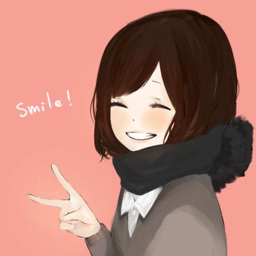 fille manga, smile